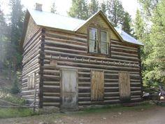 log house in St. Elmo, Colorado