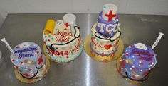 TCU Nursing School Graduation Cake Leah's Sweet Treats Custom Cake & Cupcake Studio Fort Worth, TX www.LeahsSweetTreats.com