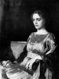 Patrick Humphreys : Photo Oswald Birley, Miss Muriel Gore in a Fortuny Dress, 1919.