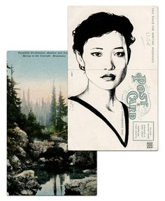 Twin Peaks postcard art by Paul Willoughby.