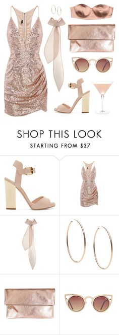 """Cocktail party"" by baludna ❤ liked on Polyvore featuring Giuseppe Zanotti, Emilia Wickstead, Michael Kors, Clare V. and Elisabetta Franchi"