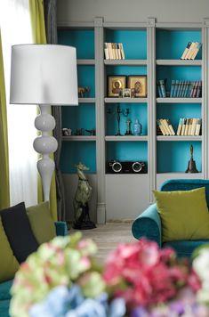 Яркий дизайн интереьера квартиры