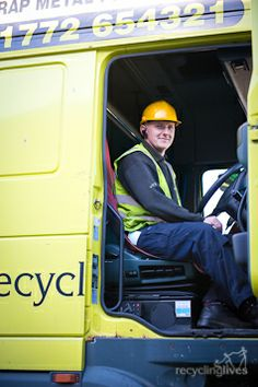 Great to see our drivers happy in their work! Recycling, Commercial, Hats, Life, Hat, Upcycle, Hipster Hat