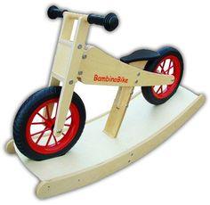Laufrad BambinoBike natur mit Wippe   D-Toy Spielzeug