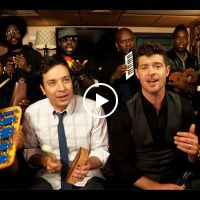 "Jimmy Fallon, Robin Thicke & The Roots Sing ""Blurred Lines"" - the best way to listen to this song - hee hee !"
