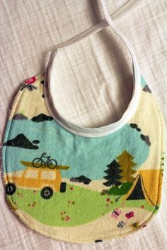 Camping Baby Bib by knottybabyboutique on Etsy, $15.00