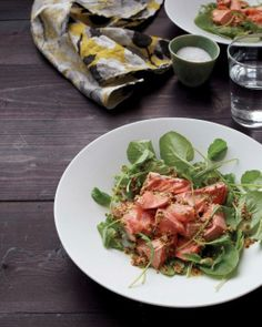 Poached Salmon and Baby Arugula Recipe