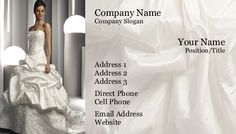 Wedding Dress #BusinessCard