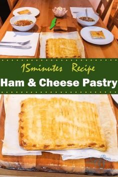 Ham & cheese pastry. If you like ham & cheese sandwiches, you will definitely like this. Have it when it is just out of the oven (be careful do not to burn your mouth), cheese literately will melt in your mouth. Very easy to prepare, I do this every week and it takes around 5-10 mins to prepare.