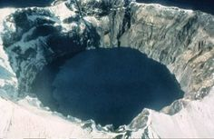 Aleutian Islands volcano | Alutian Islands Valcanos: Mount Cleveland and Kasatochi Volcano Photos, Crater Lake, Arctic Fox, Pacific Ocean, Beautiful Landscapes, Alaska, Islands, Around The Worlds, Lakes