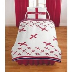England Soccer Reversible Duvet Cover Set Bedding with Pillow Case :           Please note: This product is a UK import, this duvet cover supplied is slightly smaller than the standard US duvet size, it will fit but the duvet may fold at the edge when covered. This is not a comforter but a cover for a duvet. Quality Kids Bedding Set. Duvet Cover Size...  **Read more Details : http://gethotprice.com/appin/?t=B005LTPJ7O