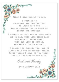 Romantic wedding vows examples for her and for him pinterest votos junglespirit Choice Image