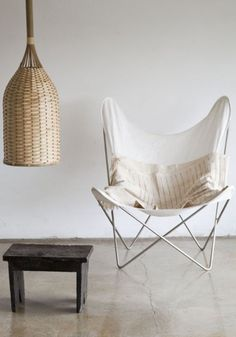 AA Butterfly chair - love it with the lamp