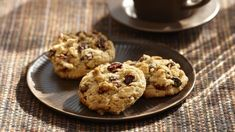 Monster Cookie Recipe With Raisins. Soft And Chewy Oatmeal Chocolate Chip Cookies Live Well . Oatmeal Raisin Drop Cookies Eat Live Run. Oatmeal Raisin Cookies, Chocolate Chip Oatmeal, Cookie Desserts, Cookie Recipes, Crockpot, Raisin Recipes, Cinnamon Oatmeal, Yummy Snacks, Sweet Treats