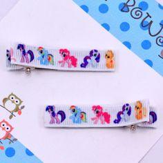little pony clippies - Pluff Bows Boutique Bows, Hairbows, Bow Ties, Little Pony, Mlp, Bowties, Hair Accessory, Hair Bows, Boutique Hair Bows