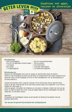 Stoofvlees met appel, rozijnen en zilveruitjes - Lidl Nederland