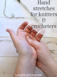 Crochet Stitches Patterns Hand stretches for knitters and crocheters - If you have arthritis, carpal tunnel, or sore hands, then these hand stretches for knitters and crocheters could help you enjoy your crafting time again! Tunisian Crochet, Knit Or Crochet, Crochet Crafts, Free Crochet, Loom Crochet, Pinterest Crochet, Loom Knitting, Knitting Stitches, Knitting And Crocheting