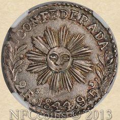 1844 Argentina 2R MS62 NGC Cordoba - Confederada, obverse