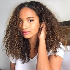 Login - How to Style Curly Hair - Tips, Tricks, and Ideas for Styling Curls Dyed Curly Hair, Colored Curly Hair, Curly Hair Cuts, Black Curly Hair, Curly Hair Styles, Natural Hair Styles, 3c Curly Hair, Long Natural Curls, Girls With Curly Hair