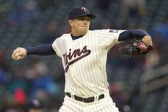 Apr 30, 2014; Minneapolis, MN, USA; Minnesota Twins starting pitcher Kyle Gibson (44) delivers a pitch in the first inning against the Los Angeles Dodgers at Target Field. Mandatory Credit: Jesse Johnson-USA TODAY Sports