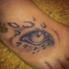 leopard tattoos on foot