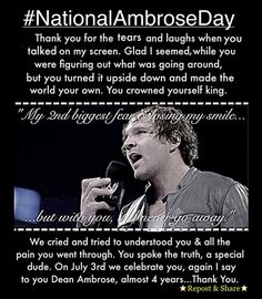 7/3/16 NATIONAL AMBROSE DAY EVERYONE!!!!!!!!!!!!!!!!!!!!!!!!!!!! I know what I'm gonna do, and that's watch his old promos and videos from his Indy days and maybe watch lockdown LOL SPREAD THIS AND PIN THIS TO ALL YOUR WWE AND DEAN AMBROSE BOARDS!!!!!!!!!! LET'S CELEBRATE NATIONAL AMBROSE DAY TOGETHER!!!!!!!!!!!!!!!!!!!!!