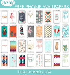 Oh So Lovely: 35 FREE phone wallpapers  (iPhone + Android)