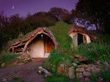 "Added ""build a straw bale hobbit home"" to my bucket list. Love the organic simplicity of this 500 sq ft home!"
