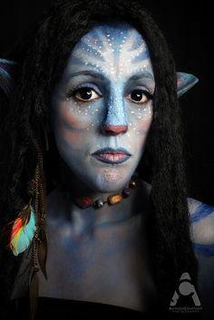 Halloween Makeup Avatar by Amanda Chapman https://www.facebook.com/amandachapmanphotography
