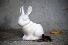 Hey, I found this really awesome Etsy listing at https://www.etsy.com/listing/127836682/white-bunny-rabbit-planter-pencil-holder