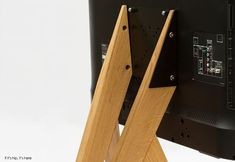 Simple, Elegant Wooden Tripod Stands for TVs and Monitors Tv Stand Tripod, Media Cabinet, Tvs, Monitor, Elegant, Simple, Dapper Gentleman, Classy, Tv