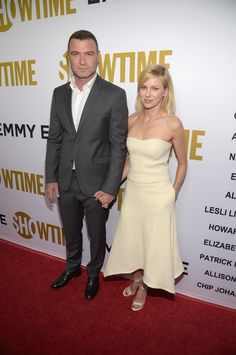 Naomi, dressed in pale yellow from head to toe, held hand with her dapper-looking love at Showtime's Emmy E...