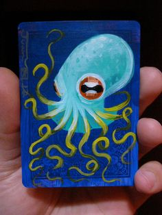 Octopus on a playing cards by JuanStar2
