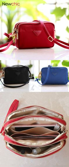 a0903c10670  US  13.85 Women Water Resistant Multi-slot Clutch Bags Nylon Solid Mini