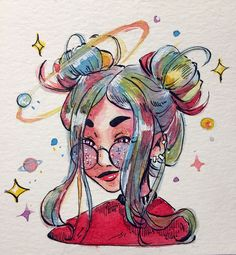 Small doodle ✨ I really love this space character, it's so pretty ! Small doodle ✨ I really love this space character, it's so pretty ! Small doodle ✨ I really love this Space Drawings, Cool Art Drawings, Pencil Art Drawings, Art Drawings Sketches, Small Easy Drawings, Pretty Drawings, Aesthetic Drawing, Aesthetic Art, Pretty Art