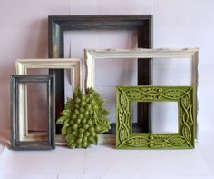 Cyrano Collection 6 pieces in Olive Green Antique by MandolinGoose, $52.00