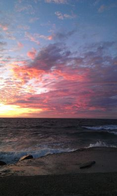 Evening view over the ocean. Hundested, Denmark