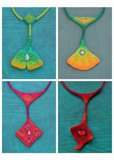 Judith Pocs.  Smooth, striking colours. Organic forms.