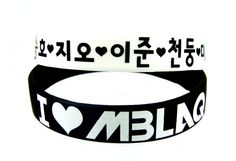 2 PC #MBLAQ Boy Band Kpop Accessories Wristband (#002)