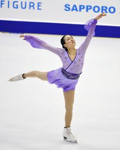 Mao Asada performs during the women's figure skating free program of the Japan Figure Skating Championships at Makomanai Ice Arena in Sapporo on Dec. 27, 2015. Three-time world champion Asada, looking for her seventh national title, finished third. (Kyodo) (2664×3344)