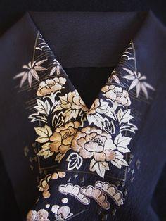 Haneri / neckpiece (on a kimono)