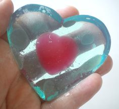 Legend of Zelda Heart Container soap, made with glycerin, natural oils and lots of love and affection.