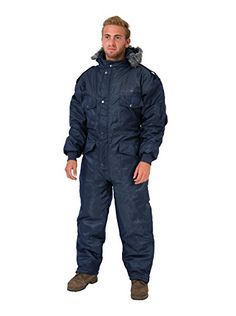 Navy Blue IDF Snowsuit Winter Clothing Snow Ski Suit Coverall Insulated Suit (XL).