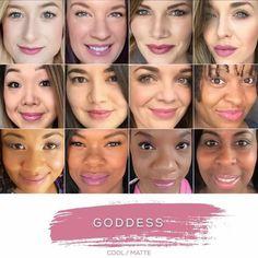 LipSense by Senegence Reintroduces Goddess - The Pink Umbrella Girl Beauty Bar, Beauty Makeup, Hair Makeup, Hair Beauty, Lipsense Goddess, Lipsence Lip Colors, Lip Sence, Long Lasting Lip Color, Color Collage