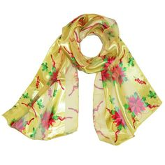 This scarf has a really pretty design, perfect for pairing with a dress or casual outfit for the holidays. It would make for a great addition to your own scarf collection, or given as a gift.