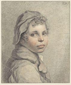 Studiekop van een jongen, Pieter Christoffel Wonder (Utrecht, 1780-1852 Amsterdam), 1790 - 1852