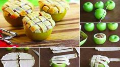 Here's a twist on the classic apple pie that could impress a crowd: Bake pie filling directly in a hollowed-out apple. You only need five ingredients and about an hour to make these tasty treats.