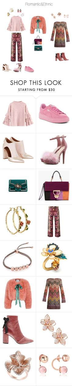 """""""Romantic&Ethnic"""" by akmaral-mail on Polyvore featuring мода, Puma, Disney, F.R.S For Restless Sleepers, Monica Vinader, Mulberry, Erdem, Missoni, Robert Clergerie и NAKAMOL"""