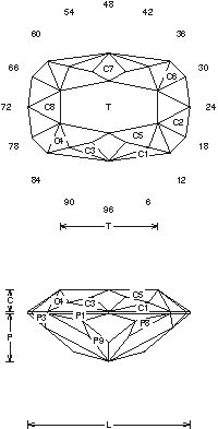 "Detailed information and guide for Faceting Design Diagrams. This facet design is called a "" ""R"" Crossed "". This works well in man-made material. My Precious, Jewelry Design, Jewelry Ideas, Gems Jewelry, Diamond Design, Ring Designs, Pink, Diagram, Sketches"