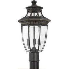 CanadaLightingExperts   Georgetown - Three Light Medium Post Lantern